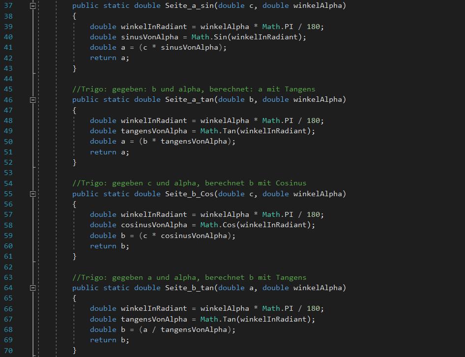 Screenshot Visual Studio 2