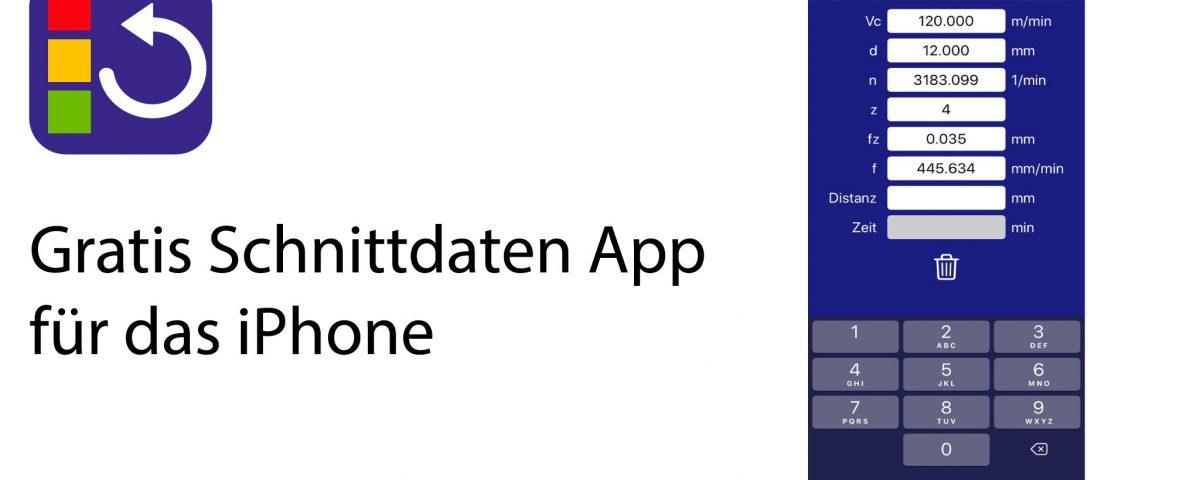Kostenlose Schnittdaten App für das iPhone